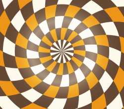 Colorful Spiral Optical Illusion Background Vector