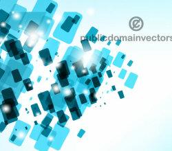 Blue Tiles Background Vector Design