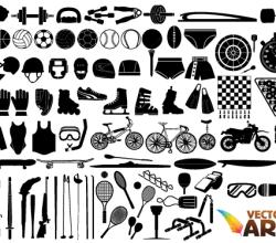 Free Sports Equipment Vector Art