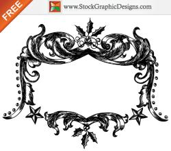 Free Christmas Vector Hand Drawn Frames