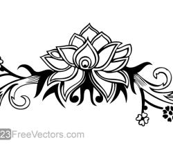 Hand Drawn Flower Design Vector