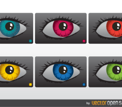 Vector Colorful Eyes