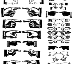 Vector Pointing Hands Images