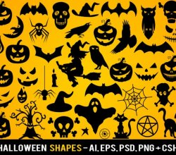 Halloween Vector Photoshop Shapes