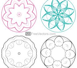 Vector Circle Decorative Design Elements Set-1