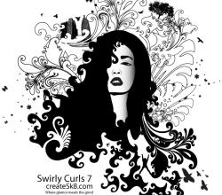 Swirly Curls – Medusa Vector