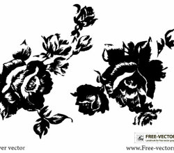 Rose Flower Silhouettes Free Vector