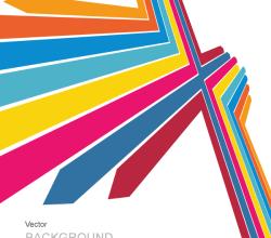 Color Arrows Background Design Vector