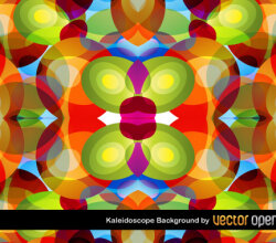 Free Kaleidoscope Background Vector