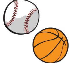 Basketball and Baseball Vector