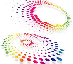 Abstract Dot Shape Free Vector