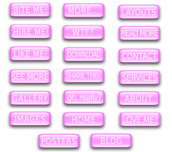 Vector Pink Word Button