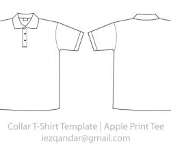 Collar Tee Template Vector