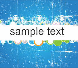 Blue Grungy Banner Vector Graphique