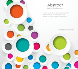 Colorful Geometric Circle Designs Background Image