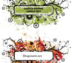 Vector Grunge Text Banner Design