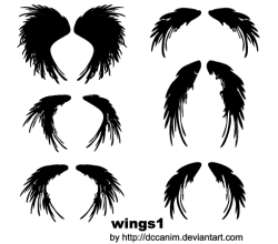 Wings Silhouettes Vector Image