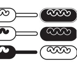 Vector Clip Art Corn Dog