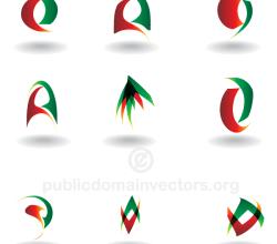 Abstract Logo Design Elements Vector