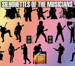 Musicians Silhouettes Vector Art
