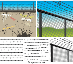 Free Barbed Wire Vector Eps