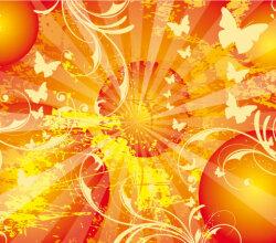 Vector Sun Background Poster Design