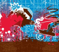Graffiti Snowboarder Vector Graphics