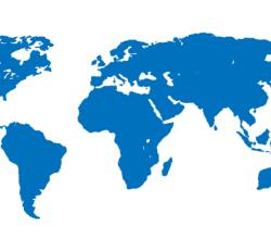 Free Blue World Map Vector