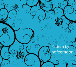 Seamless Pattern Floral With Blue Background