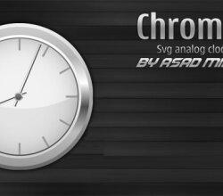 Vector Chrome Svg Analog Clock