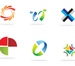 Vector Abstract Logo Elements