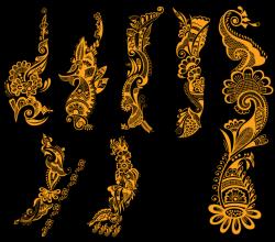 Free Indian Henna Tattoo Designs Vector