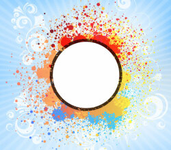 Abstract Splatter Background Design Illustration