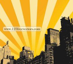 Sunrise Illustration Background