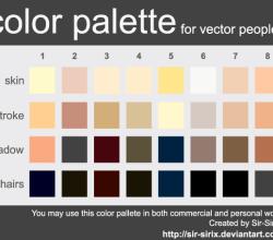 Skin Tone Color Palette Design Vector Eps