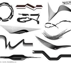 Line Art Design Elements Vector Set-6