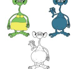 Alien Characters – Free vector
