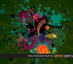 Crazy Psychedelic Pop Art