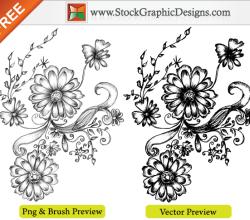 Hand Drawn Sketchy Decorative Elements Free Vector