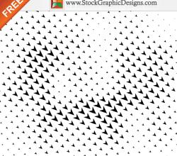 Halftone Arrows Free Vector Illustration