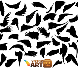 Wings Silhouettes Vector Free Images
