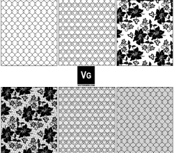Vector Lace and Mesh Pattern Swatches