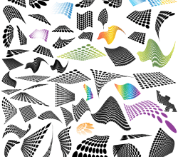 50 Abstract Halftone Design Elements Free Vector Download