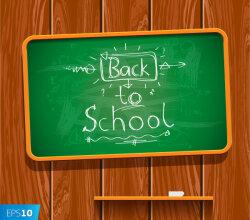 Back to School Written on Chalkboard Illustration