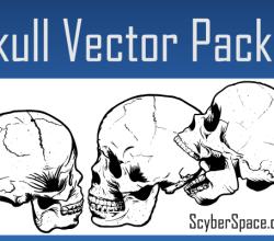 Skull Vector Pack Illustrator Free