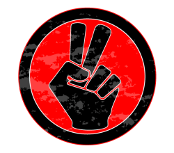 Vector Victory Sign