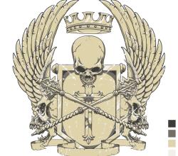 Crest T-Shirt Design Vector