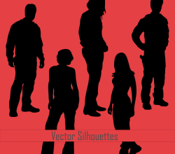 Vector Young People Silhouettes