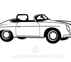 Vector Vintage Car Image