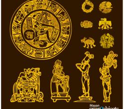 Vector Aztec/Mayan Elements Free Images
